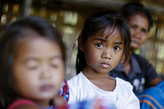 A Palawan native child looking on